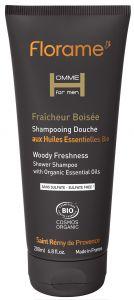 Fresh wood shower og shampoo 200ml.